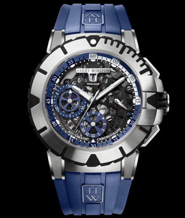 Harry Winston Ocean Chronograph Blue Zalium