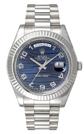 Rolex Day-Date II White Gold 'Blue Wave'