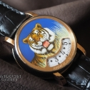 Andersen Geneve Montre A Tact Or Gris Tigre